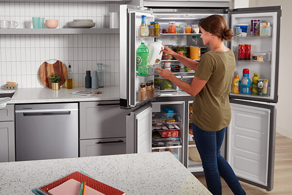 36-inch Wide Counter Depth 4 Door Refrigerator - 19.4 cu. ft.
